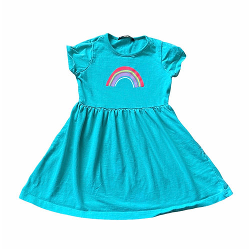 George 4-5 years Turquoise Rainbow Dress