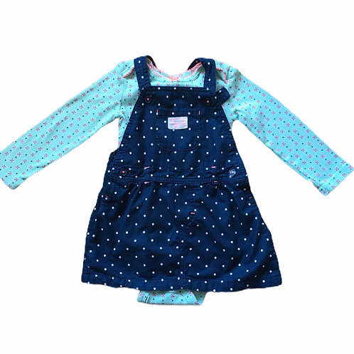 Carters 24 months Navy Polka Dot Lightweight Dress with Bodysuit