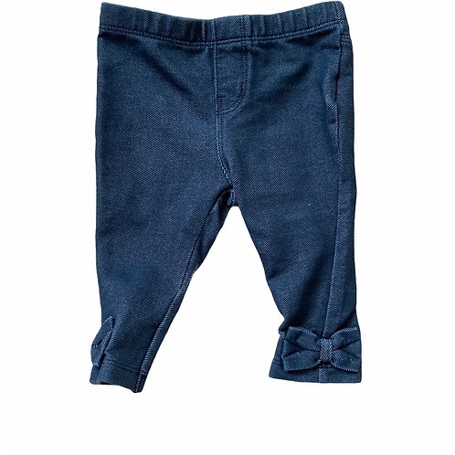 Baby Gap 3-6 months Denim Bow Leggings