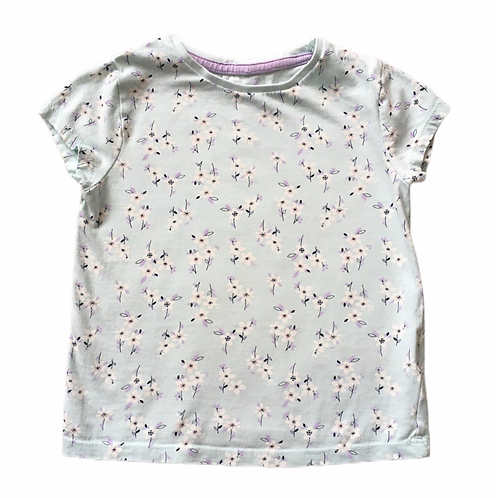F&F 2-3 years Pale Mint Floral T-shirt