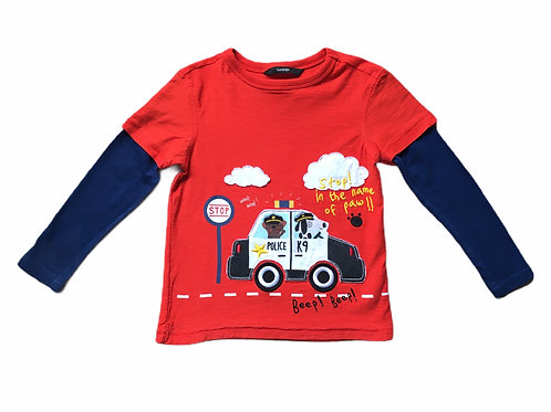 George 3-4 years Long Sleeve Police Car Top