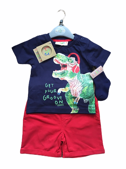 Lily & Jack 18-24 months T-Rex T-shirt, Shorts and Socks Set - BRAND NEW