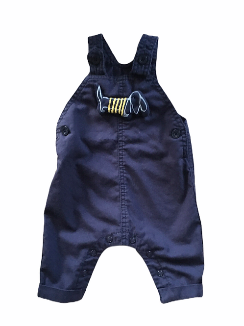 Next Up to 3 months Navy Lightweight Dog Dungarees