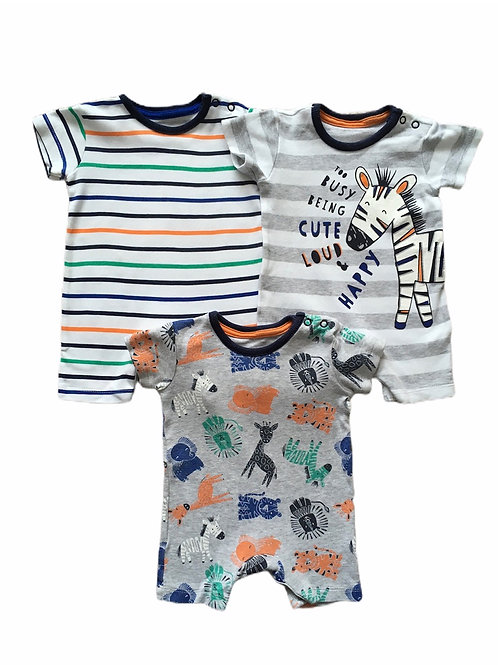 George First Size 3 x Animal Rompers