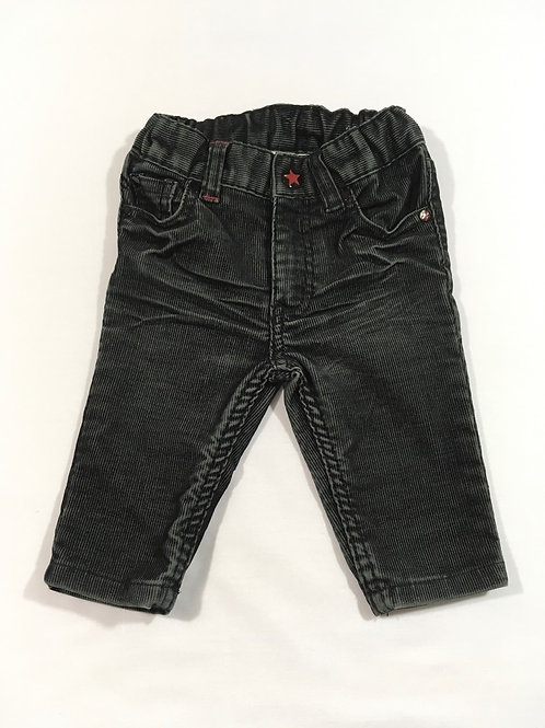 H&M 4-6 months Black Cord Trousers