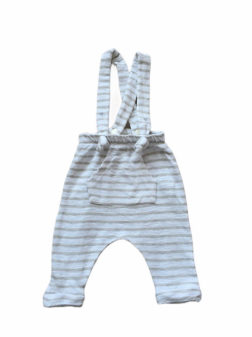 Zara Mini 3-6 months Grey and White Striped Trousers with Braces