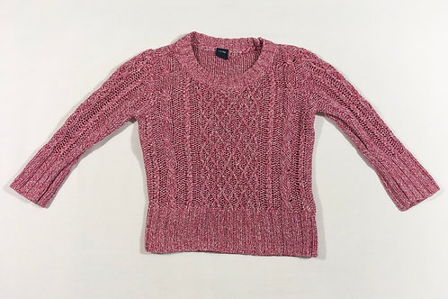 Baby Gap 18-24 months Pink and White Knitted Jumoer