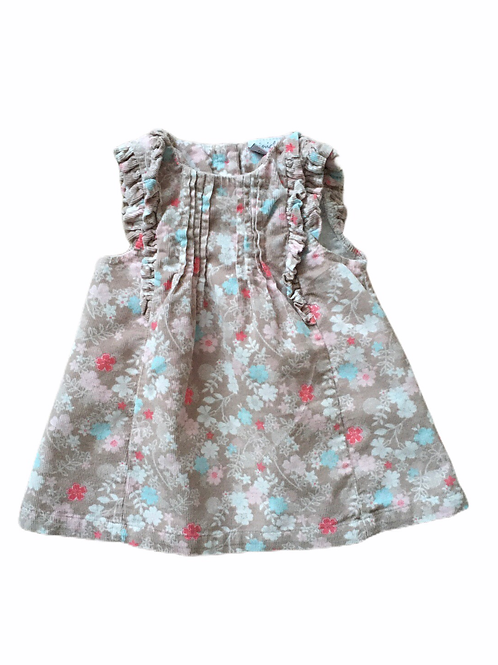 Boots Mini Club 3-6 months Cord Floral Pinafore Dress
