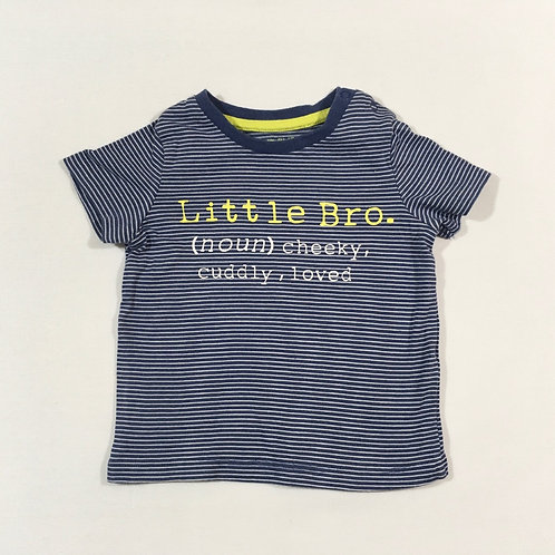 F&F 3-6 months Little Bro T-shirt