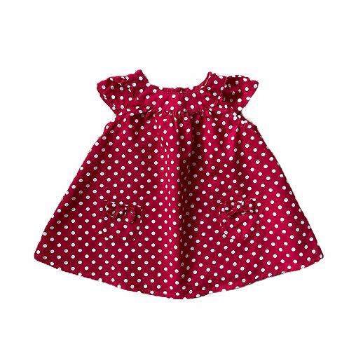 Bluezoo 3-6 months Red Polka Dot Sleeveless Dress