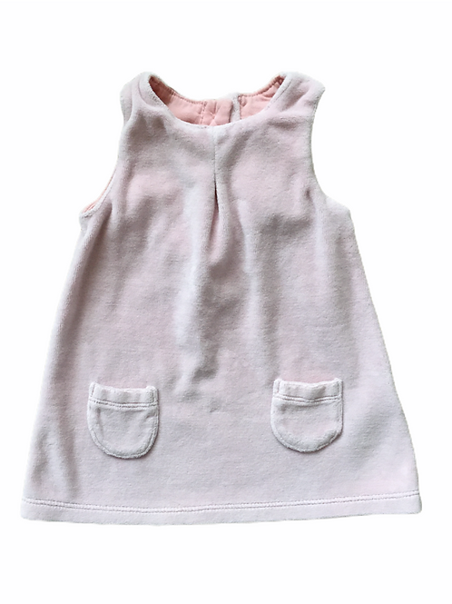 M&S 0-3 months Baby Pink Cord Pinafore Dress