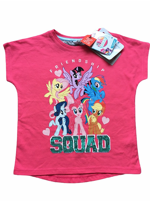 TU 4-5 years My Little Pony 'Friendship Squad' Sequin T-Shirt - BRAND NEW