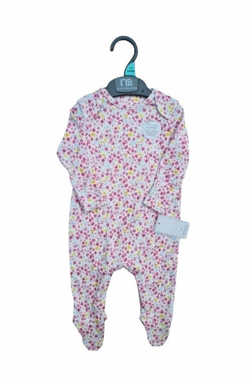 Mothercare 3-6 months Floral Sleepsuit - BRAND NEW