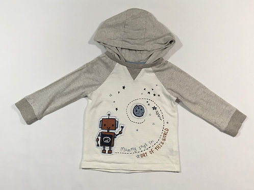 George 6-9 months 'Mummy Says I'm Out of This World' Long Sleeve Hoodie