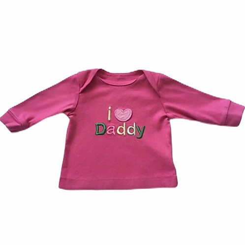 Mothercare 0-3 months I Love Daddy Long Sleeve Top