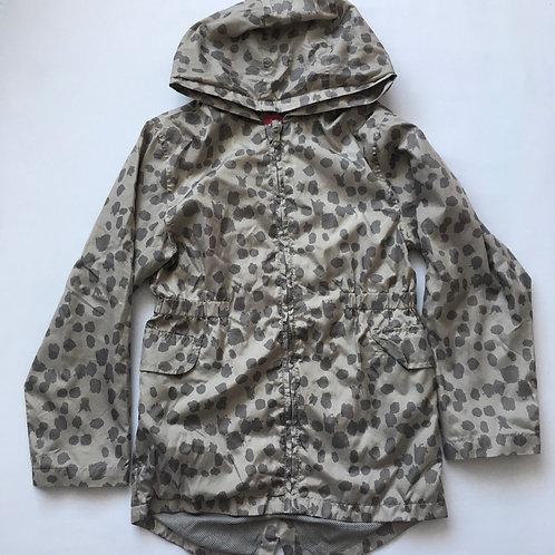 Nutmeg 9-10 years Grey Leopard Print Raincoat