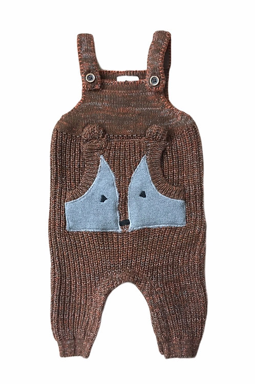 Next Up to 3 months Fox Knitted Dungarees