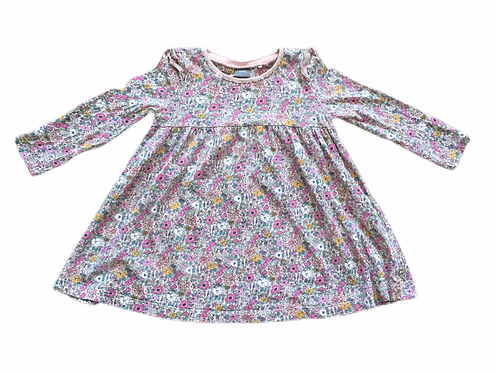 Next 1.5-2 years Pink Long Sleeve Floral Dress