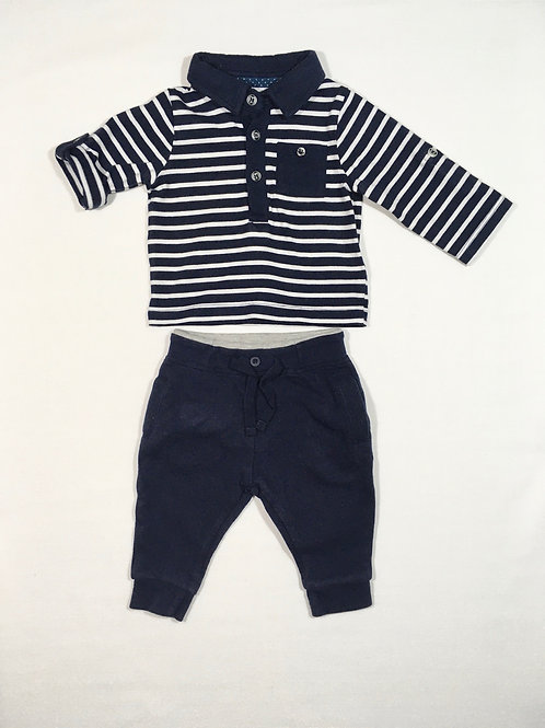 Boots Mini Club 0-3 months Top and Joggers Set - Long Sleeve or 3/4