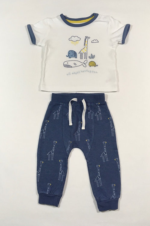 Boots Mini Club 6-9 months Animal T-shirt and Joggers