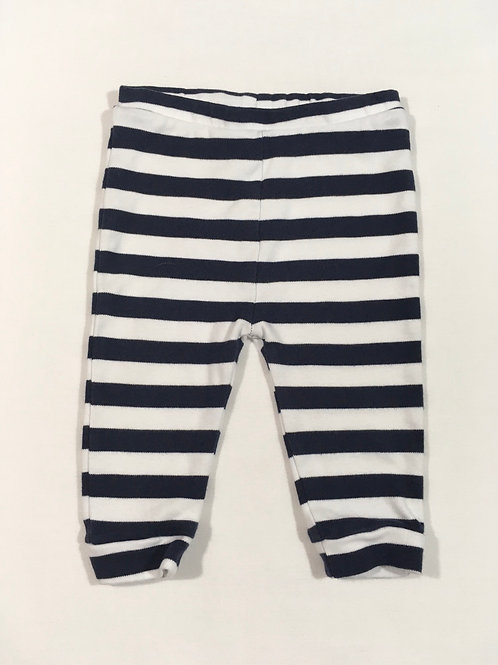 Next 6-9 months Navy and White Striped Leggings