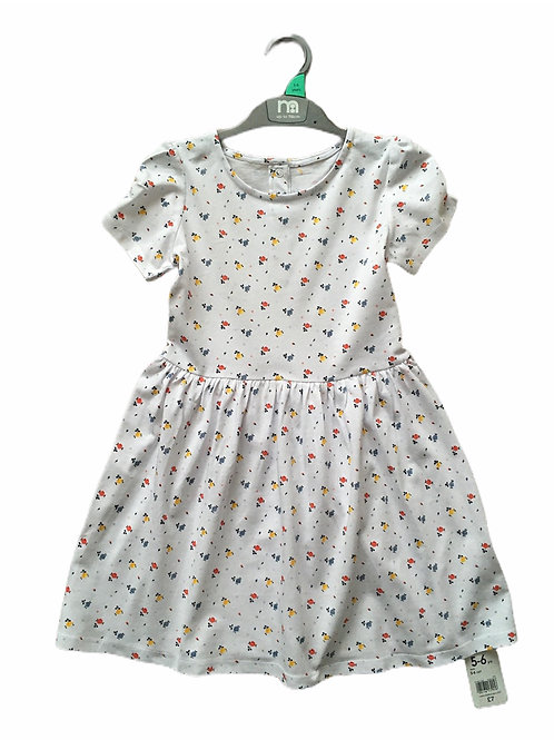 Mothercare 6-9 months White Floral Dress - BRAND NEW