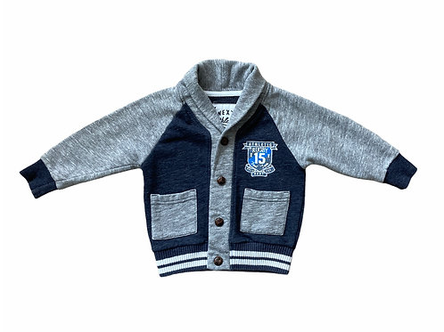 Next 12-18 months Navy and Grey Cardigan