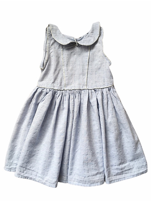 Ex High Street 12-18 months Blue and White Check Dress - BRAND NEW