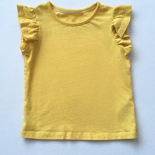 M&S 2-3 years Yellow T-shirt