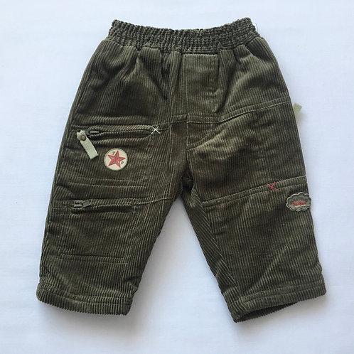 6 months Khaki Cord Trousers