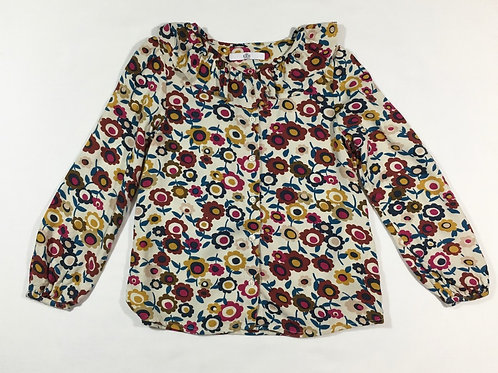 M&S 6-7 years Floral Ruffle Blouse