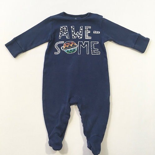 Next 3-6 months Navy 'Awesome' Sleepsuit