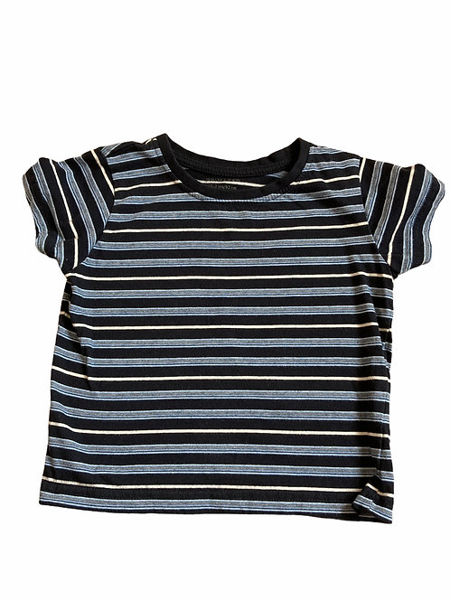Primark 1.5-2 years Navy, Blue and White Striped T-Shirt