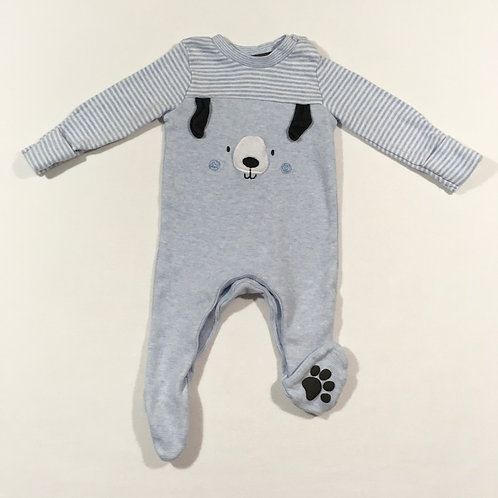 F&F Up to 1 month Puppy Sleepsuit