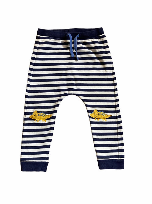 M&S 18-24 months Navy and White Striped Dinosaur Joggers