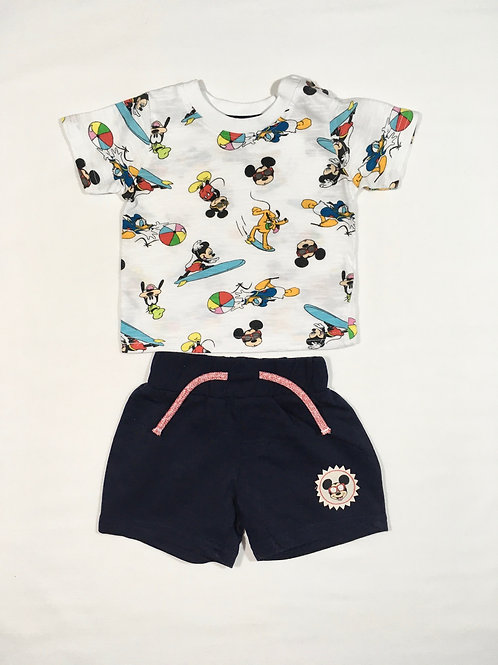 Primark 0-3 months Disney T-shirt and Short Set