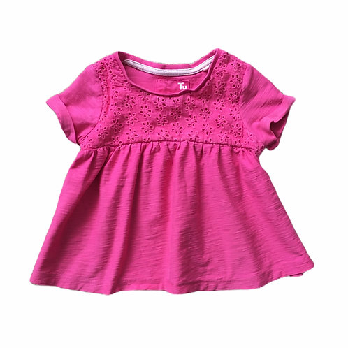 TU 1-1.5 years Pink Broderie Anglaise Top