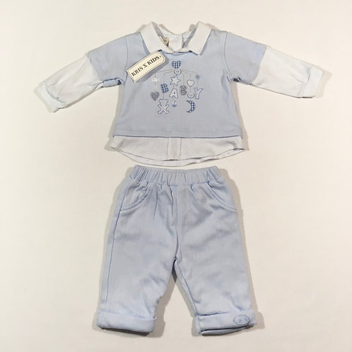 Kris X Kids Newborn Long Sleeve Top and Trouser Set - BRAND NEW