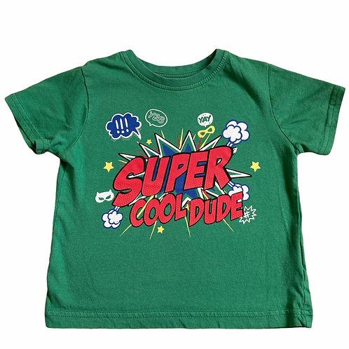 Primark 1.5-2 years Super Cool Dude Green T-Shirt