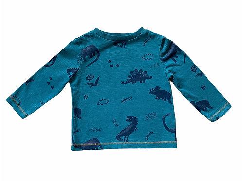 F&F 12-18 months Green Dinosaur Long Sleeve Top