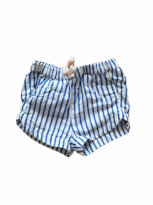 H&M 1.5-2 years Blue and White Striped Shorts