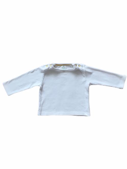 John Lewis 0-3 months White Long Sleeve Top
