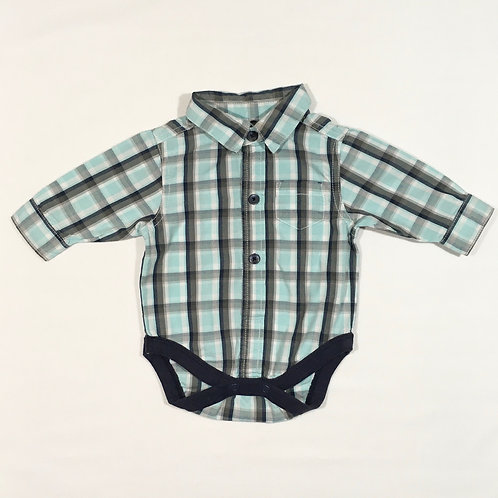 Next 0-3 months Long Sleeve Check Bodysuit