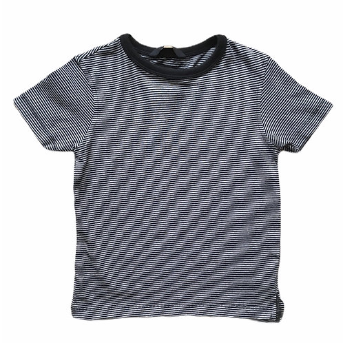 George 3-4 years Black, White and Grey Striped T-Shirt