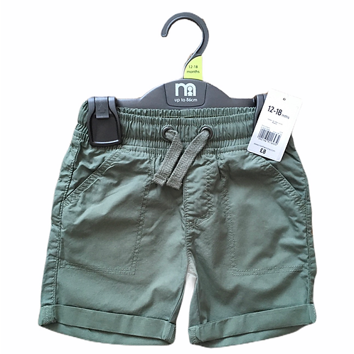 Mothercare 3-6 months Khaki 100% Cotton Shorts - BRAND NEW