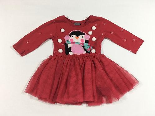 Next 3-6 months Christmas Penguin Tutu Dress