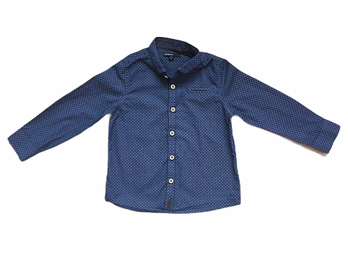 M&S Autograph 4-5 years Navy Patterned Long Sleeve Shirt