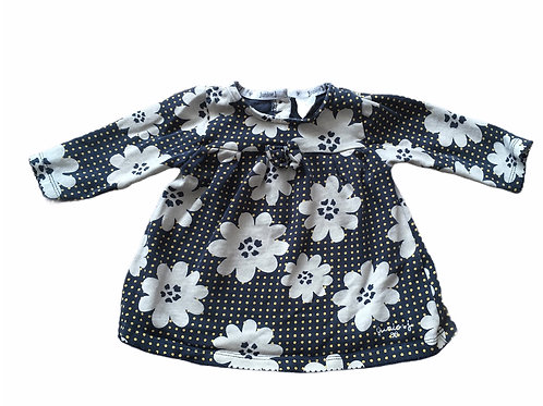 Jasper Conran 3-6 months Navy and Mustard Polka Dot Floral Long Sleeve Top