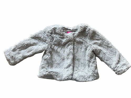 Joules 2 years Grey Fluffy Jacket