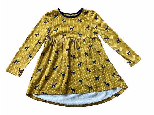Boots Mini Club 3-4 years Mustard and Navy Deer Tunic Dress-PLAYWEAR (wash fade)